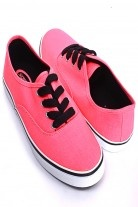 NEON PINK LACE UP SLIP ON THICK RUBBER SOLE SHOES