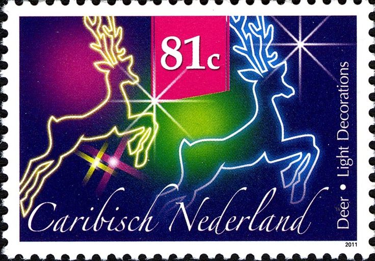 Stamp: Reindeers (Caribbean Netherlands) (December Stamps) Mi:BQ 20,Sn:BQ…
