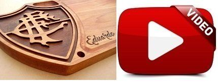 Tabua de carne de madeira para churrasco corte cozinha personalizada time Fluminense - Adrishop - Sua Loja de Variedades