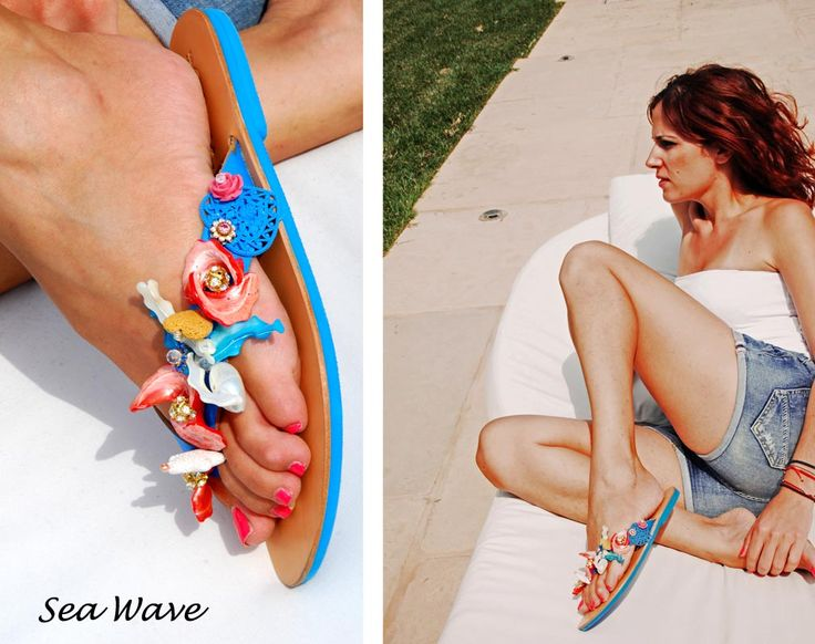 Sea Wave Flip-flop! Do you feel the summer when you look at it? Bonbon Sandals