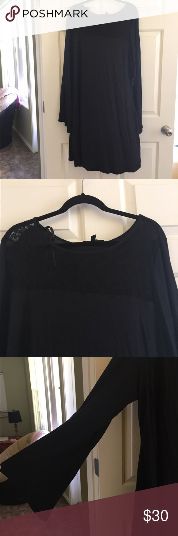 """Jessica Simpson Shift Dress 3X Jessica Simpson  Plus size 3X  Part of her """"sportswear"""" collection. Soft knit shift dress/tunic with lace chest detail. Long sleeves.  Super cute! New with tags      Lowballs will be ignored. Items are priced to sell with very little wiggle room. Bundle & save!! Jessica Simpson Dresses"""