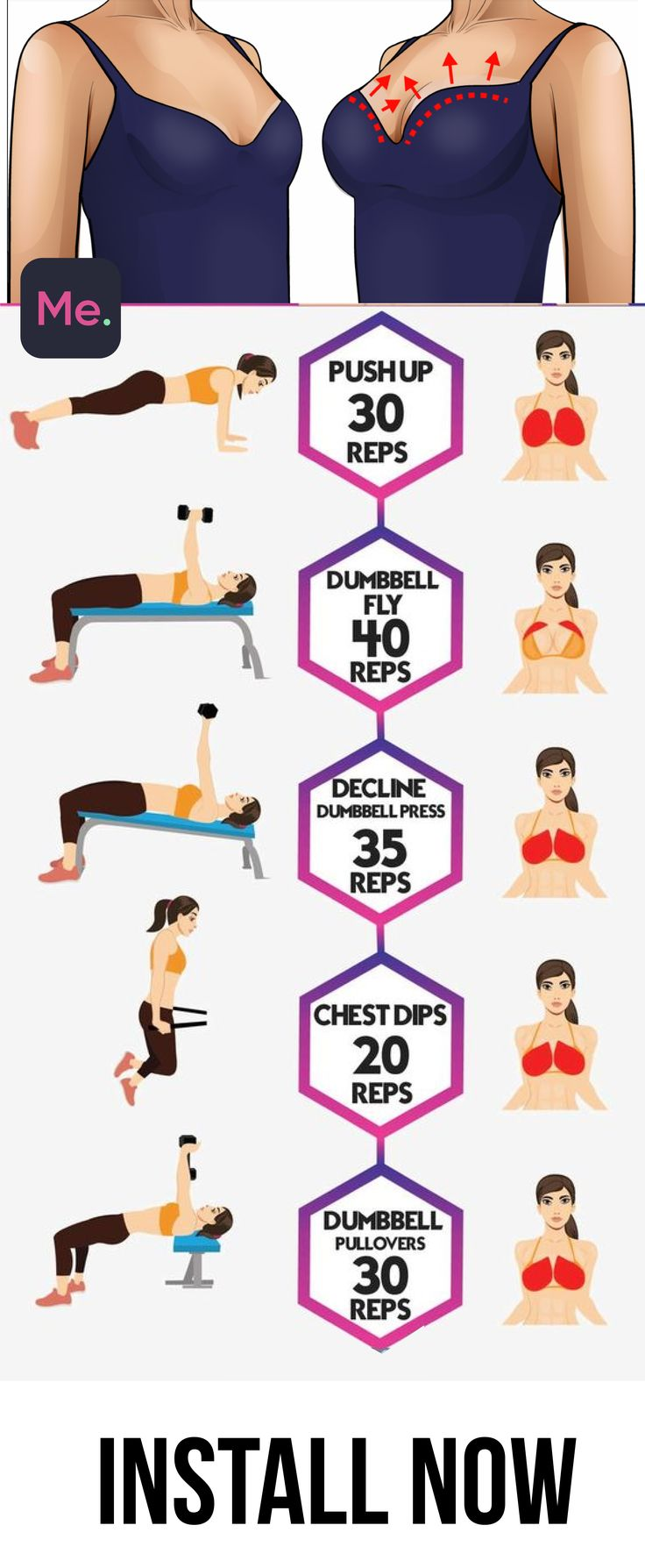 Perfect exercises to lift your boobs