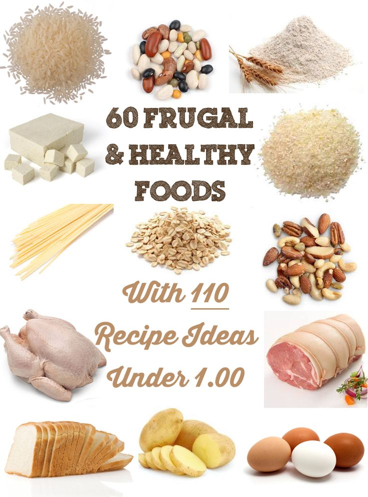 60 Frugal & Healthy Foods with 110 Recipe Ideas Under $1