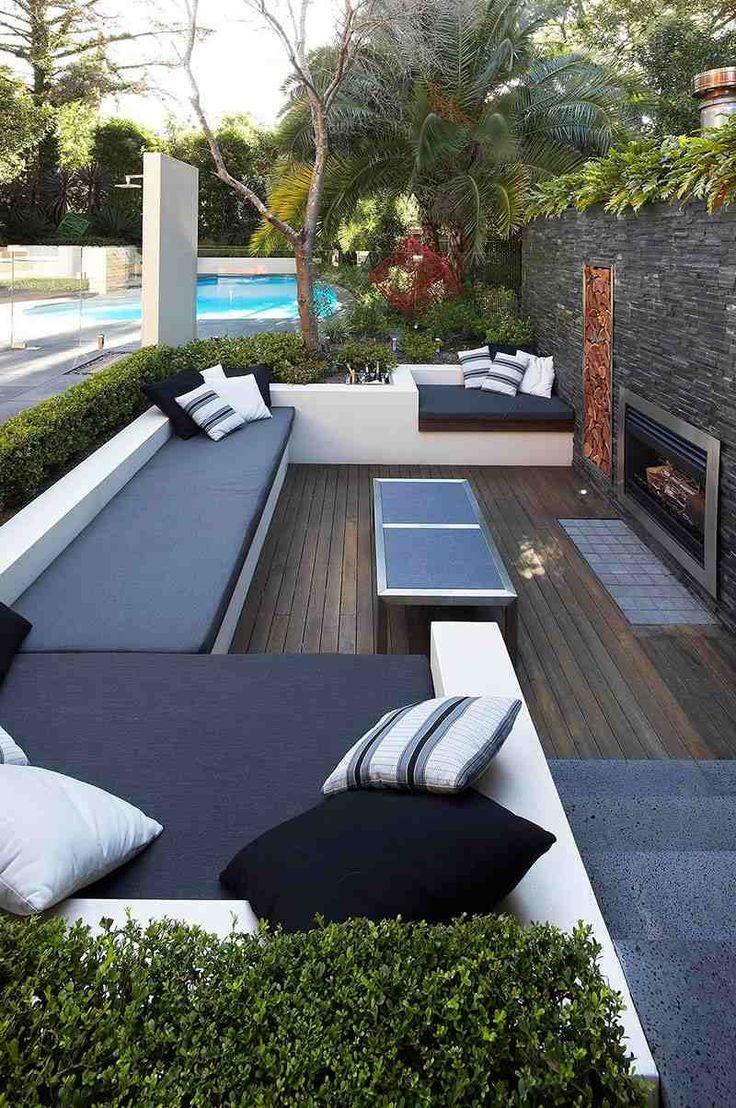 mobilier de jardin 55 ensembles salon et bancs de jardin - Versunkene Feuerstelle Designs
