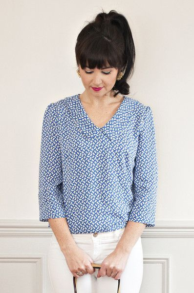 The Susie blouse by Sew Over it read more about this sewing pattern and read reviews here