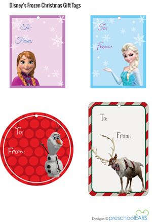 Disney's Frozen Christmas gift tags - free printables!