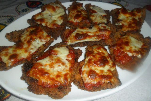 Milanesas de ternera con salsa napolitana