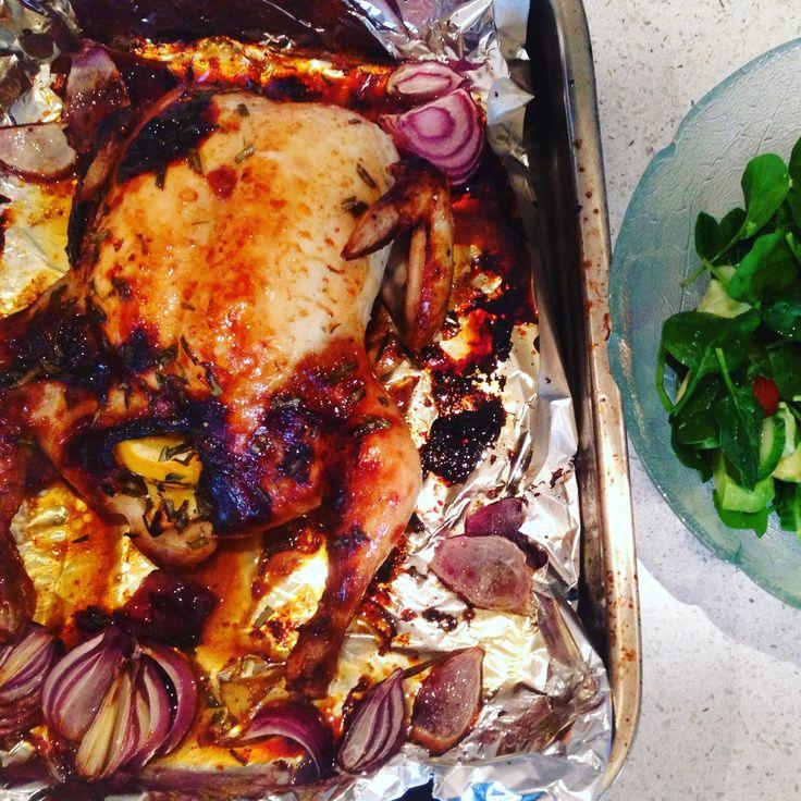 Lemon, Ginger, Honey Roast Chicken By Monique Smeele Ingredients:1 3/10 kg Free Range Whole Chicken1/2 cup Shott Lemon, Ginger & Honey1 Lemon …