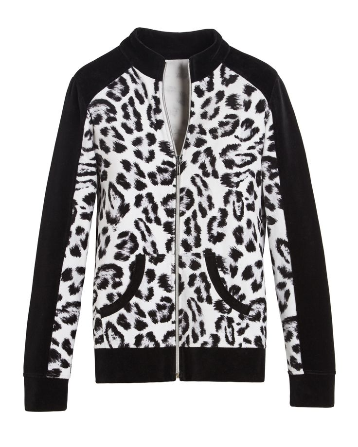 Zenergy Velour Animal Print Jacket#chicossweepstake