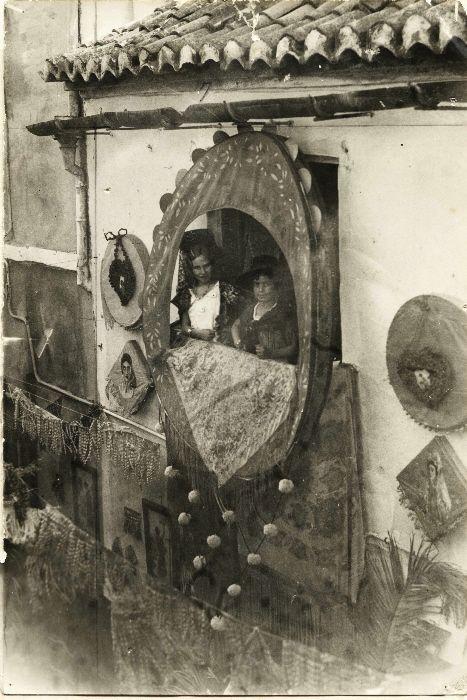 Fiestas en el Barrio de la Trinidad (Málaga), 1931. Fot. Archivo Municipal de Málaga.