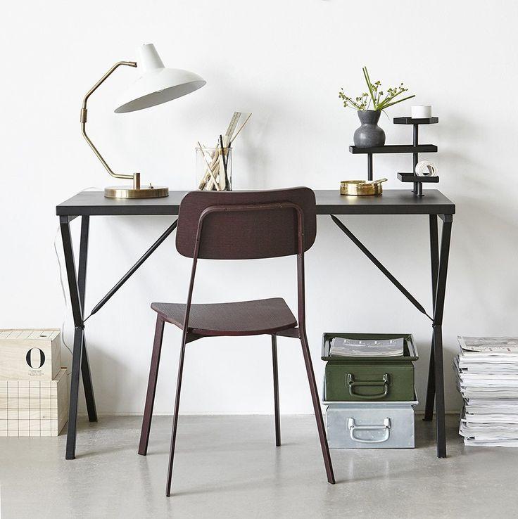 Simple black desk.