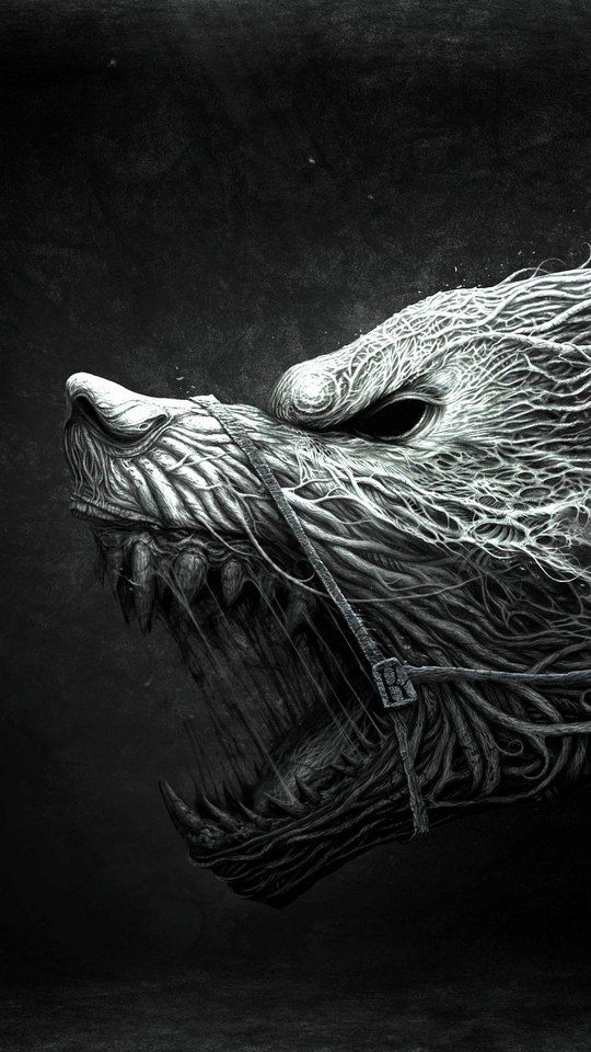 Pin By Colby Jordon On Awesomeness Scary Wallpaper Wolf