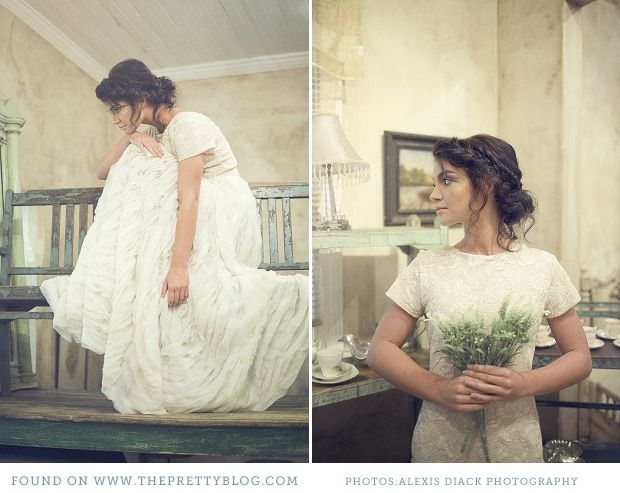 Vintage wedding dress | Photography: Alexis Diack Photography, Dress: Chanelle Wright from Pretty Filly