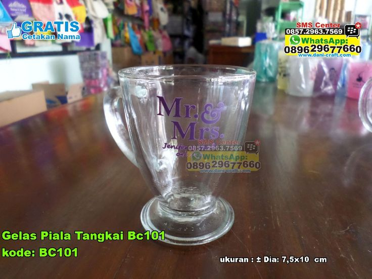 Gelas Piala Tangkai Bc101 WA/ SMS Center: 0857.2963.7569 Telp/SMS/WA: 0896.296.77.660 (Tri) 0819.0403.4240 (XL) 0813.2660.1110 (Telkomsel) 0857 4384 2114 (Indosat) PIN BBM: 59E 8C2 B6. #gelas #gelasmurah #gelasunik #gelassablon #gelaspialatangkai #grosirgelasmurah #souvenirbahanbeling #souvenirgelassablonmurah #souvenirpernikahangelasmurah #jualsouvenirpernikahangelasmurah #gelasBelimbing #gelasUnik #GelasPiala #JualPiala #desainundanganPernikahan