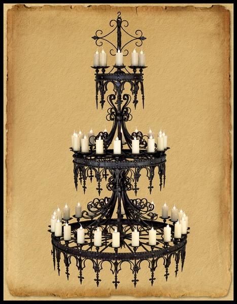 Every self-respecting vampire would need this chandelier...and minions to light it. I remembered it was in the attic but closely guarded by the ghost of bitings past. Vat shall I do?