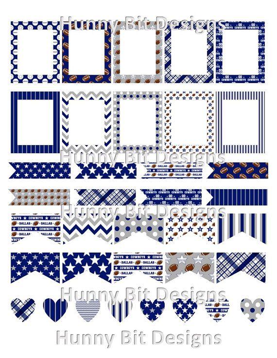 Erin Condren Planner Dallas Cowboys Football by HunnyBitDesigns