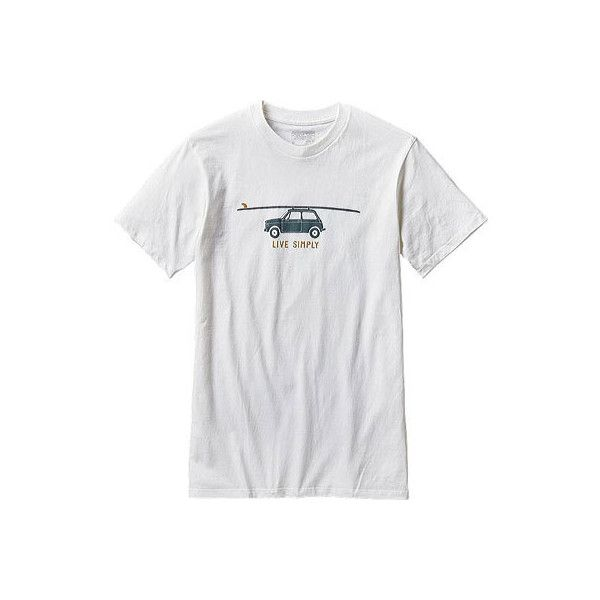 Men's Patagonia Live Simply Glider Cotton/Poly T-Shirt - White Graphic... ($29) ❤ liked on Polyvore featuring men's fashion, men's clothing, men's shirts, men's t-shirts, white, mens white t shirts, mens white cotton shirts, patagonia mens shirts, mens t shirts and mens slim shirts