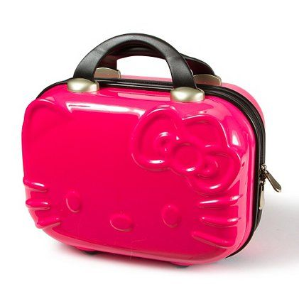 HK |❣| HELLO KITTY Pink Travel Makeup Case
