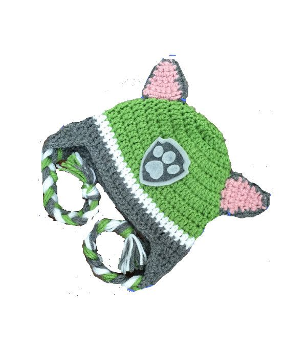 Paw Patrol Rocky Hat: Crochet Pattern by EJcrochetchronicles on Etsy