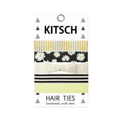 Kitsch hårstrikk med mange flotte mønster og motiver gir litt ekstra pynt til hårsveisen.