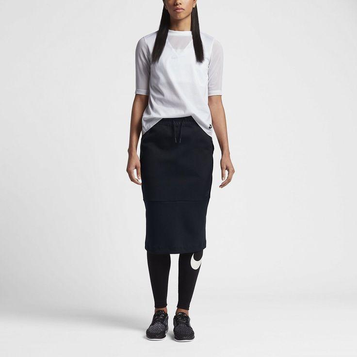 Женщины & # 039; сек Nike Sportswear Tech флис юбка черный Размер SMALL 831719 010 NWT | eBay