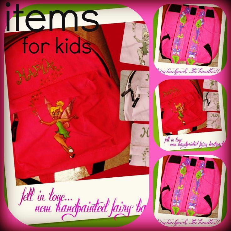 handpainted kids backpack