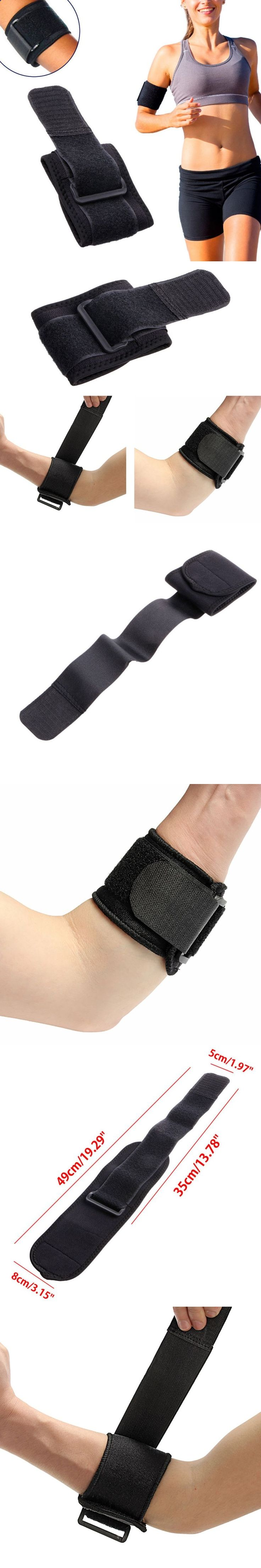 Black Adjustable Tennis Fitness Elbow Support Strap Pad Sport Golf Pain Forearm Support Band knee Wraps