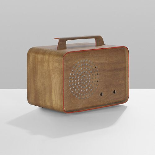 1946 Charles Eames Prototype Radio Enclosure | Evans Products | USA Walnut Plywood with Lacquered Details