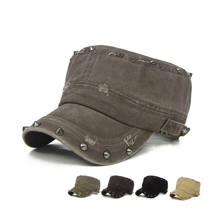 >> Click to Buy << BomHCS Spring Summer Fashion Rivet Women Cotton Baseball Cap Mens Sun Hat Flat Hat Army Cap AM1731MZ20 #Affiliate