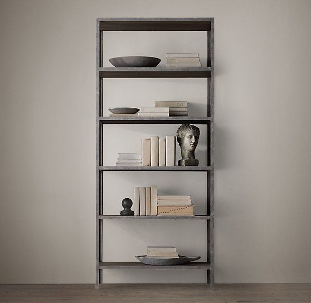 Vintage Industrial Bookcase by Restoration Hardware.Industrial Single, Restoration Hardware, Industrial Shelves, Industrial Bookcases, Hardware Vintage, Hardware Shelves, Single Shelves, Vintage Industrial, Industrial Shelving