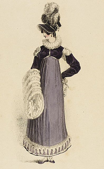 "Walking dress, ""Ackermann's Repository,"" English, February 1st 1816.: 1816 Walking, Fashion Plates, Dress Fashion, Regency Fashion, Dresses, Color Combinations, Dress 1816"