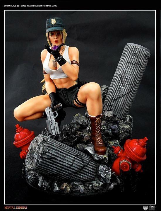 Syco Collectibles Sonya Blade Mortal Kombat statue