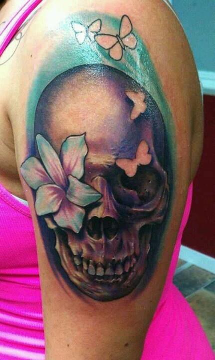 1000 ideas about pretty skull tattoos on pinterest for Pretty skull tattoos