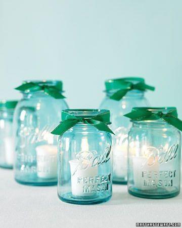 Mason jar decorating idea, DIY wedding decorations   Mason Jars, great ideas to use in a wedding   Pinterest   Diy wedding decorations, DIY wedding and Jar