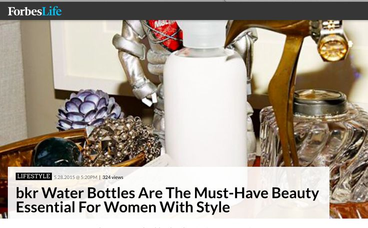 bkr crushing as usual... Go Tal Winter and Kate Cutler!! http://www.forbes.com/…/bkr-water-bottles-are-the-must-hav…/