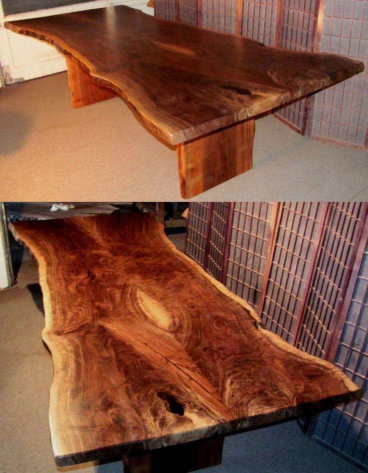 47 best live edge tables images on pinterest live edge table dining tables and walnut dining. Black Bedroom Furniture Sets. Home Design Ideas