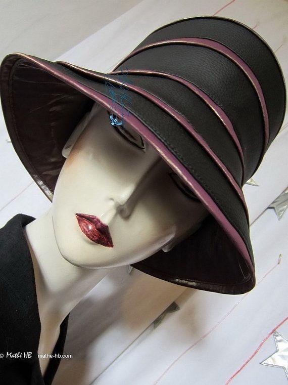 chapeau de pluie sur commande noir ébène et par MatheHBcouture