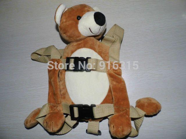 Бурый Медведь голдбаг Животных 2 в 1 Жгут Kid Keeper ребенок Ремни Безопасности Животных Весело Рюкзак Кенгуру Ребенок Ремни поводок