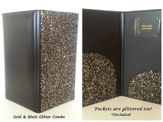 glitter bling waitstaff server book decorative and super