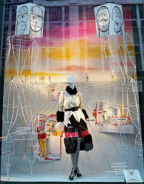 Bergdorf window - pretty surreal