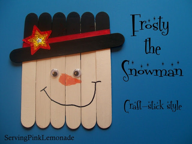Serving Pink Lemonade: Snowmen - Craft Stick Style