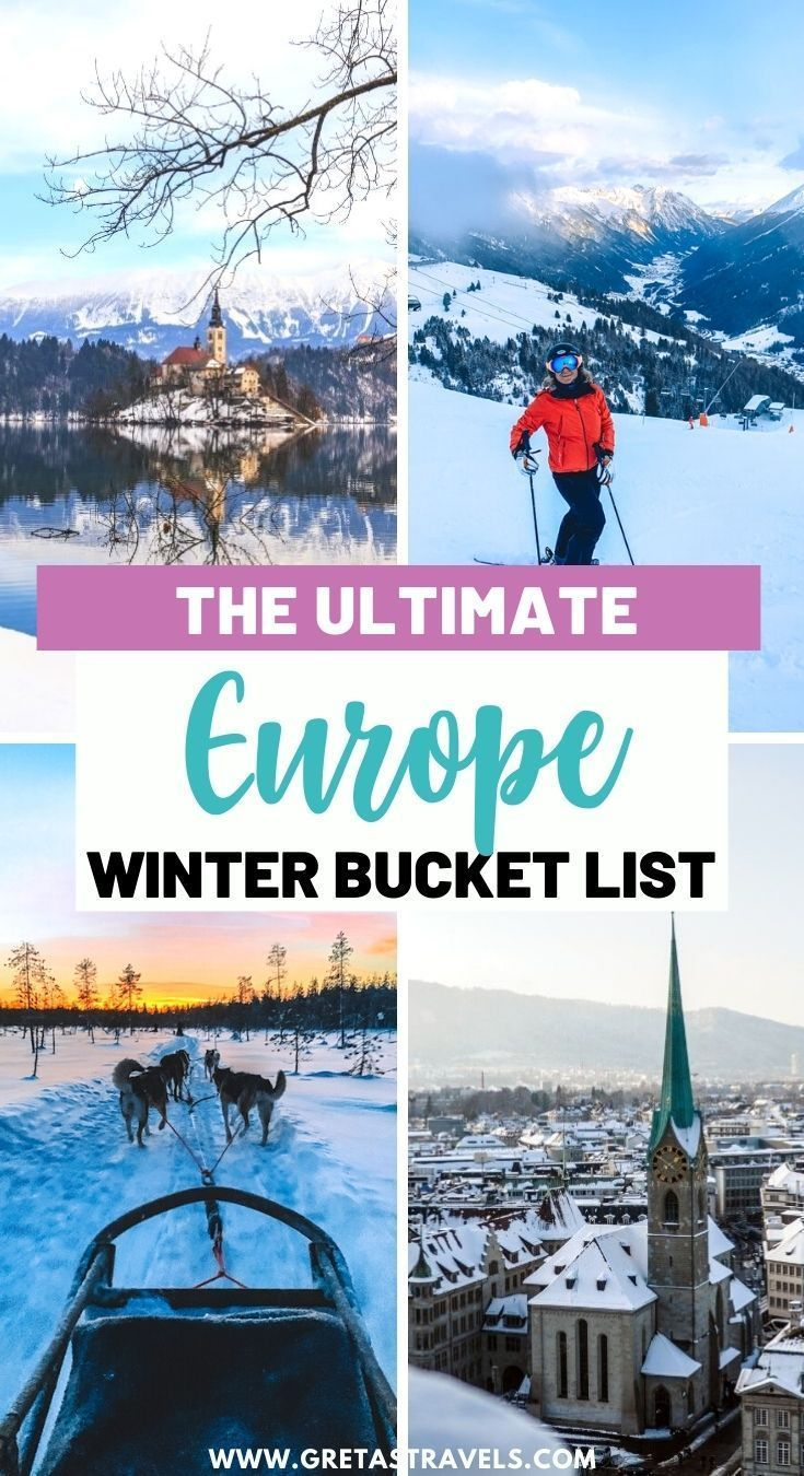 Vacation Europe After Christmas 2020 Winter in Europe: The 16 BEST European Winter Vacation Spots in
