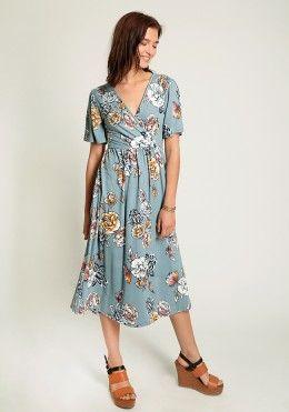 Cute Dresses - Vita Floral Midi Dress