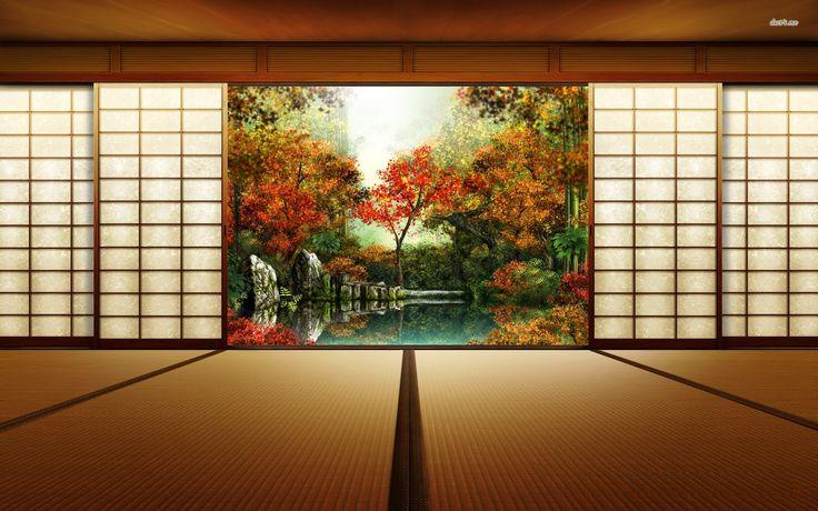 Japanese Room Wallpaper Wallpapers Pinterest