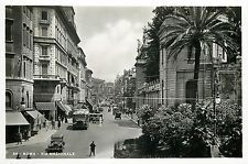 Italy 1930s Real Photo Postcard Roma Rome - Via Nazionale classic oldtimer cars