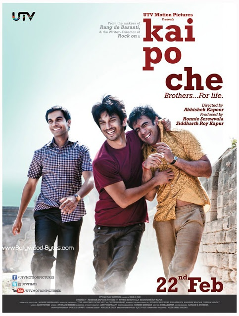 First Look Poster : Kai Po Che - Film Based on Chetan Bhagat's - The 3 Mistakes of My Life
