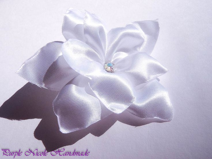 Sofia - Handmade Bridal Flower by Purple Nicole (Nicole Cea Mov). Materials: satin, rhinestone.
