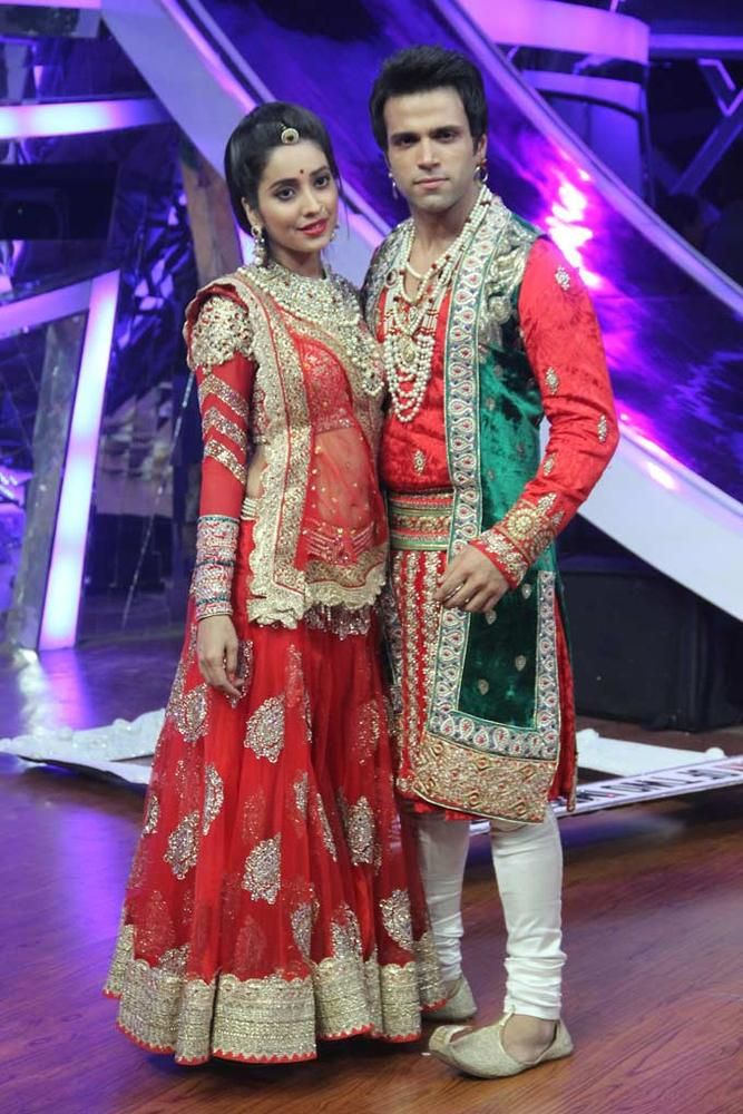 Rithvik Dhanjani and Asha Negi on 'Nach Baliye 6'. #Style #Bollywood #Fashion #Beauty