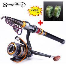 US $27.27 Sougayilang 1.8-3.6m Telescopic Fishing Rod and 11BB Fishing Reel Wheel Portable Travel Fishing Rod Spinning Fishing Rod Combo. Aliexpress product