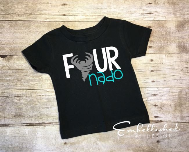 Four Year Old Birthday Shirt, Fournado Shirt, 4th Birthday Shirt, 4 Year Old…